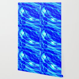 Vector glowing water background made of blue sea lines. Wallpaper