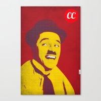 charlie chaplin Canvas Prints featuring Charlie Chaplin by jnk2007
