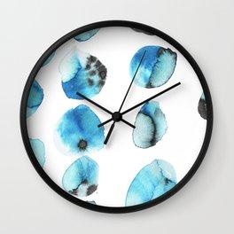 watercolor polka dots seamless pattern Wall Clock
