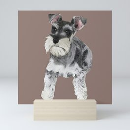 Miniature Schnauzer // dog illustration Mini Art Print
