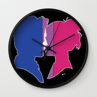 bisexual Wall Clocks featuring Bisexual Love by Winter Graphics