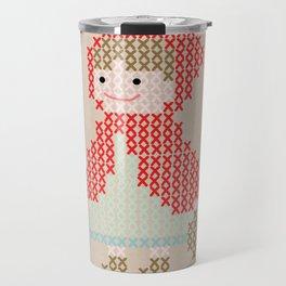 Red Riding Hood cross stitch Travel Mug