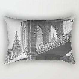 Brooklyn Bridge B&W Rectangular Pillow