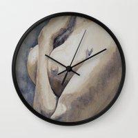 marianna Wall Clocks featuring Marianna by Karolina Ostrowska