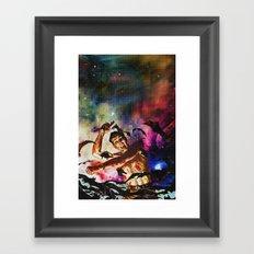Na na na na Bat-punch Framed Art Print