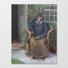 Beatrix Rabbit (an homage) Canvas Print