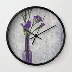 Purple Vase Wall Clock
