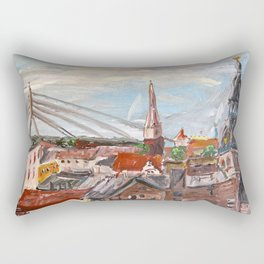 Dome Cathedral from City Hall in Riga, Latvia Rectangular Pillow