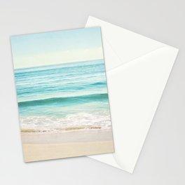 Ocean Seascape Photography, Aqua Beach Sea Landscape, Turquoise Teal Coastal Waves Stationery Cards