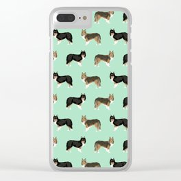 Shetland Sheep Dog pattern custom dog gifts for unique dog breed pet friendly dogs Clear iPhone Case
