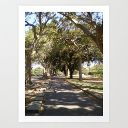 ROUND THE BEND Art Print