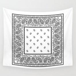 Classic White Bandana Wall Tapestry