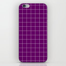 Violet with White Grid - more colors iPhone Skin
