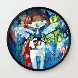 Fly over the world Wall Clock