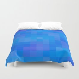 Re-Created Colored Squares No. 60 by Robert S. Lee Duvet Cover