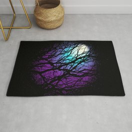 lights in the forest Rug