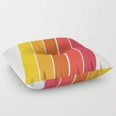 Cool Beans - 70's retro throwback art stripes motif decor hipster Floor Pillow