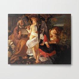 Merisi da Caravaggio - Ruhe auf der Flucht nach Ägypten Metal Print