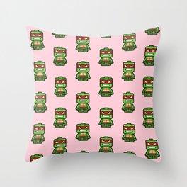 Chibi Raphael Ninja Turtle Throw Pillow