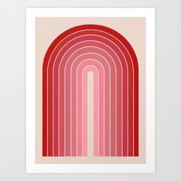 Gradient Arch - Pink / Red Tones Art Print