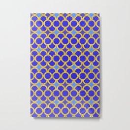 Blue Gold Scales Metal Print