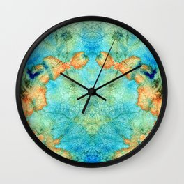 Blue And Orange Abstract - Time Dance - Sharon Cummings Wall Clock