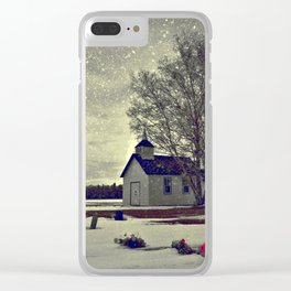A Cool November Morning Clear iPhone Case