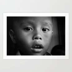Cambodian Kid Art Print