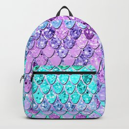 Mermaid Scales with Unicorn Girls Glitter #9 #shiny #decor #art #society6 Backpack