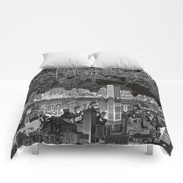 baltimore city skyline abstract 3 Comforters