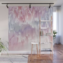 Falling Shades of purple and pink Glitch pattern Wall Mural