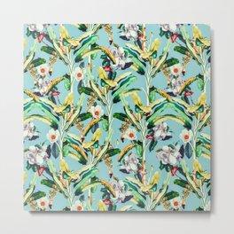 Flowers in the banana trees Metal Print
