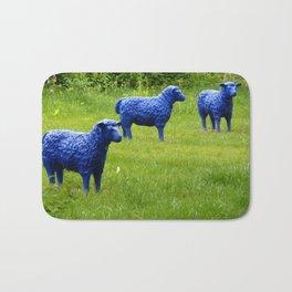blue sheep Bath Mat