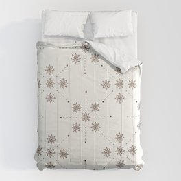 Floral Constellation (XL) Comforters