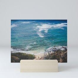Surfer meets Sea - Diamond Head / Oahu / Hawaii Mini Art Print