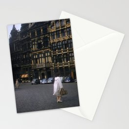 Vintage Color Photo * Kodachrome * Brussels * Town Square * Fashion Stationery Cards