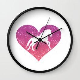 Horse Lover Gift I Love Horseback Riding Equestrian Gift Wall Clock