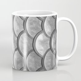 Abstract modern metallic silver mermaid pattern Coffee Mug