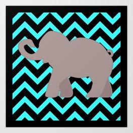 Roll Tide Elephant Crimson Tide Alabama Art Print