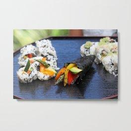Sushi California Roll Metal Print
