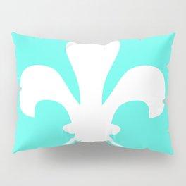 Fleur de Lis (White & Turquoise) Pillow Sham