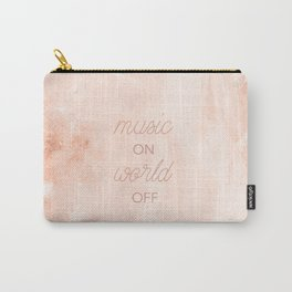 Music On, World Off Carry-All Pouch