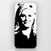 leslie knope iPhone & iPod Skins featuring Leslie Knope by Bjarni Bragason