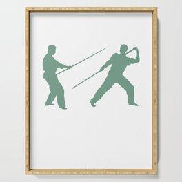 Arnis Escrima Stickfight Training Serving Tray