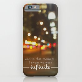 perks of being a wallflower - we were infinite iPhone Case