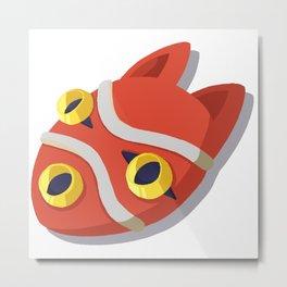 Wolfgirl Mask Metal Print