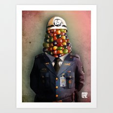 CHAPA CHOCLO (policemen) Art Print