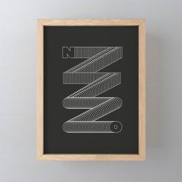 n\\\o Framed Mini Art Print
