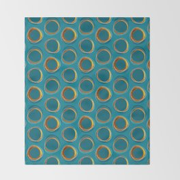 Solar Eclipse MCM Gold-Blue Throw Blanket