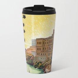 Vintage Italian travel Santa Cesarea Terme Lecce Travel Mug